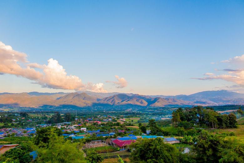 Pai village in Thailand